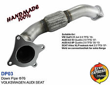 Downpipe 76mm for VW Golf 6 R 4x4 SEAT Altea XL AUDI A3 8P S3 2.0 TFSi