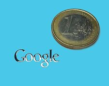 GOOGLE  METALLIC CHROME EFFECT STICKER LOGO AUFKLEBER 20x9mm [578]