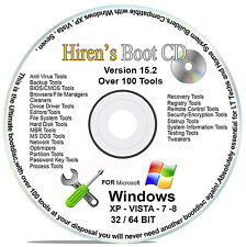 Hiren's Boot CD 15.2 *NEWEST VER* PC Repair Boot Disc Virus Removal Cleanup MBR