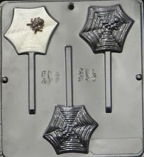 Spider on Web Lollipop Chocolate Candy Mold Halloween  942 NEW