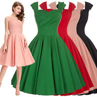 Women's 1950s RETRO Vintage Swing Dress Housewife Pinup Skater Party PROM Formal