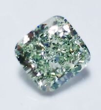 Green Diamond - 1.01ct Natural Loose Fancy Light Green Color Diamond GIA Cushion