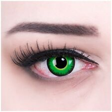 Coloured Contact Lenses Green Werewolf Color Carnival + Free Case