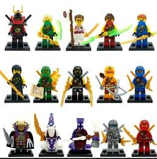 15 Pcs Ninjago Superheroes Mini Figures Lloyd Cole Kai Jay Cole Zane Fits Lego