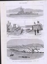 1885  PARTICULAR SERVICE SQUADRON IN BANTRY BAY FORT RUPERT ON RIGHT BANK