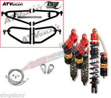 "Lonestar +2"" A-Arms Elka Stage 3 Front Rear Shocks Suspension Kit Raptor 660 All"