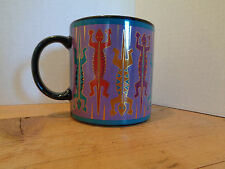 Vintage Laurel Burch LEAPING LIZARDS Coffee Mug Made in Japan Free Shipping!