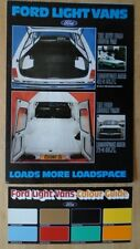 FORD LIGHT VANS orig 1978 UK Mkt Brochure + Colour Guide - Fiesta Escort 35 45