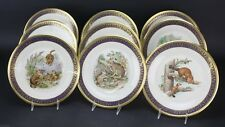 Set 9 Lenox China Woodland Wildlife Boehm Limited Edition LE Collector Plates NR