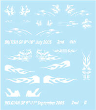 DECALS F'ARTEFICE FR-0003 1/43 RENAULT R25 BRITISH & BELGIAN GP