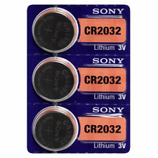 3 SONY CR2032 DL2032 CMOS Lithium 3V Watch Battery Exp 2026 Ships FREE from USA!