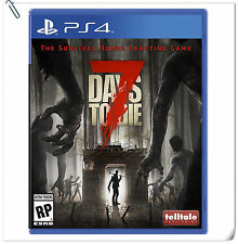 PS4 7 Days to Die SONY Playstation Telltale Action Games