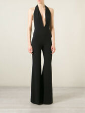 **BALMAIN** Halterneck Crepe Jumpsuit All in One **RUNWAY PIECE**