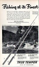 1954 Print Ad True Temper Fishing Pier Rods & Hollospin Rods Geneva,Ohio