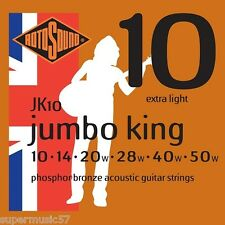 Rotosound JK10 Jumbo King Phosphor bronze acoustic guitare strings extra light
