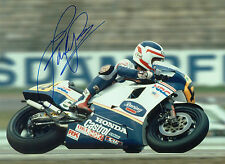Fast Freddie SPENCER Autograph SIGNED Photo 16x12 HONDA Rider AFTAL COA