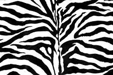 ~[B&W] Black & White Zebra Stripe Very Soft Stripe Faux Fur HQ Fabric ~Free S&H