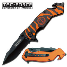 Tac-Force  Rescue Parmatic  EMT Tiger Strip Survivor Folding Knife