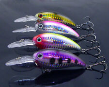 4x high quality 3D crystal deep crank bass fishing lures crankbait tackle 15g