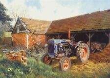 Fordson Major Tractor  Farm Scene 1950s Birthday Card