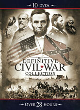 """New, 10-DVD """"Definitive Civil War Collection"""" 28 hour 150th Mega box Collection"""