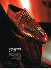 PUBLICITE ADVERTISING 074  1990   STEPHANE  KELIAN chaussures ORCHESTRE ROUGE