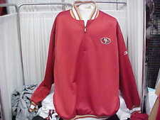 Authentic NFL San Francisco 49ers Reebok Partial Zip Pullover Jacket Size- 3XL