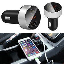 Dual USB Car Cigarette Charger with LED Display Volt Amp Meter DC 3.1A 5V