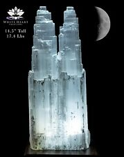 "14.5"" XL Selenite Double Tower Crystal Lamp SDT-916-23 (Exact Lamp + Free Gift)"
