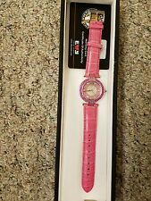 Effy pink saphire and diamond stainless steel ladies watch
