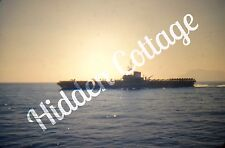 Orig KODACHROME Photo Slide USS Midway Ship Aircraft Carrier Navy Military Boat
