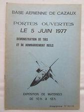 PLAQUETTE BA120 CAPITANE MARZAC CAZAUX PORTES OUVERTES 1977 HISTORIQUE MISSIONS