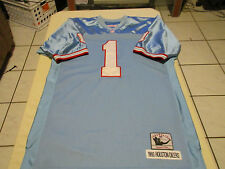 WARREN MOON #1 HOUSTON OILERS MITCHELL & NESS 1993 THROWBACK JERSEY SIZE 52 NFL