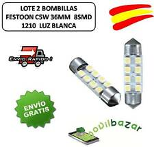 2 BOMBILLAS BOMBILLA LED COCHE FESTOON C5W 36MM 8SMD INTERIOR BLANCO MATRICULA