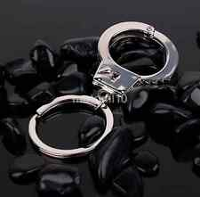 Small Police Cops Handcuffs Toy Keychain Key Chain Fob Ring Holder Classic Gift