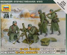 Zvezda 1/72 Figures German 81mm Mortar with Crew Winter 1941 -1945 Z6209