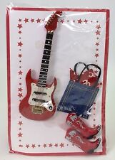 2007 BARBIE CONVENTION SOUVENIERS RED GUITAR RED COWBOY BOOTS DENIM BAG NIB