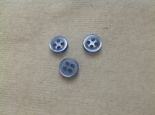 NEW 11/32 LT BLUE 4 HOLE LT BLUE PEARL FINISH BUTTONS