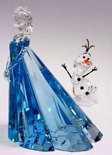 ELSA (LTD) AND OLAF DISNEY FROZEN CRYSTAL SET 2016 SWAROVSKI #5135880  5135878
