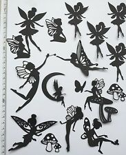 Mixed Fairy Jar Pack- Series 1 (black)Die Cut Shapes (19 Pieces)
