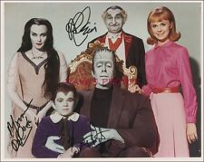 """Signed """"Munsters"""" 8X10 Color RP Photo w/coa"""