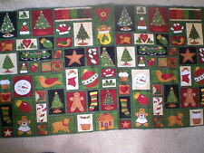 Quilt Panel - Multi-Christmas Patchwork -- Companion Fabric also available.