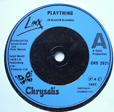"""LINX - Plaything - Excellent Condition 7"""" Single Chrysalis CHS 2621"""