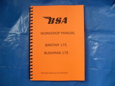BSA BANTAM B175 AND BUSHMAN WORKSHOP MANUAL