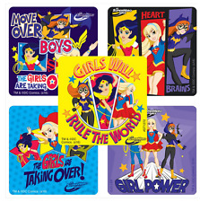 """25 DC Super Hero Girls Girl Power Stickers,, 2.5""""x2.5"""" each, Party Favors"""