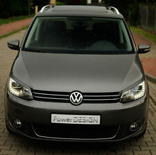 Eyebrows for VW TOURAN GP2 2010+  headlight eyelids lids ABS Plastic