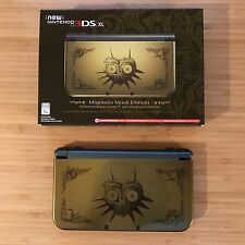 NINTENDO NEW 3DS XL ZELDA MAJORA'S MASK LIMITED EDITION RARE IPS WITH GAME