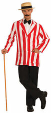 1920s Old Time Striped Jacket Fancy Dress Boater Barber Carnival Adult AC563