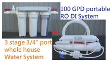 100 GPD whole House Aquarium Reef RO DI 5stage Reverse Osmosis Water System