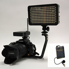 Pro 4K 2 WLM video light + wireless lavalier mic for Panasonic GH4 GH3 FZ1000 G6